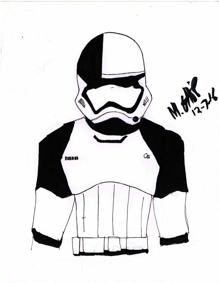 DRAWING OF THE WEEK: STORMTROOPER EXECUTIONER- NEW LAST JEDI CHARACTER